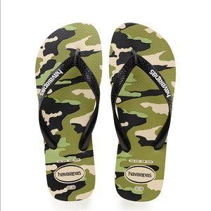 NWT Men's Camo Havaianas Flip Flop Sandals